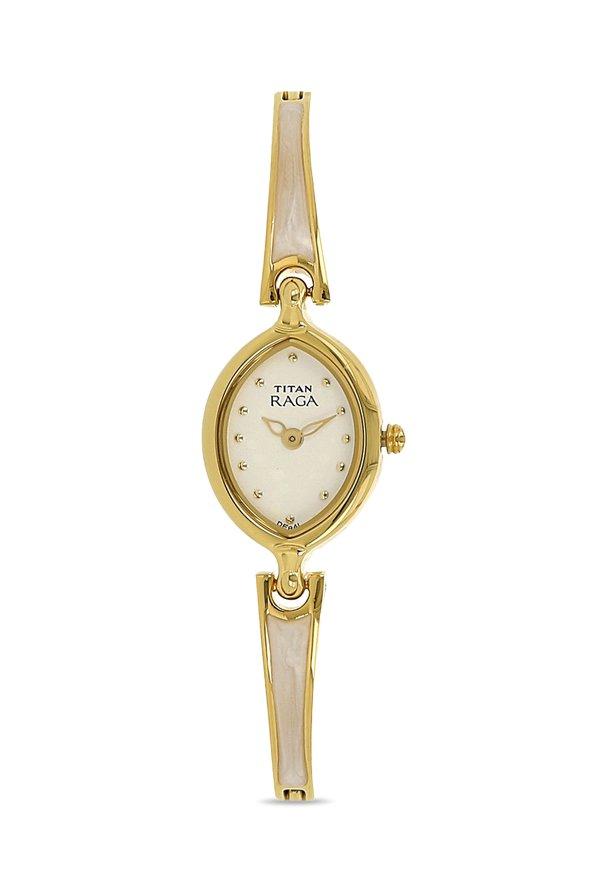 Titan Raga 2370YM11 White Dial Analog Women's Watch (2370YM11)