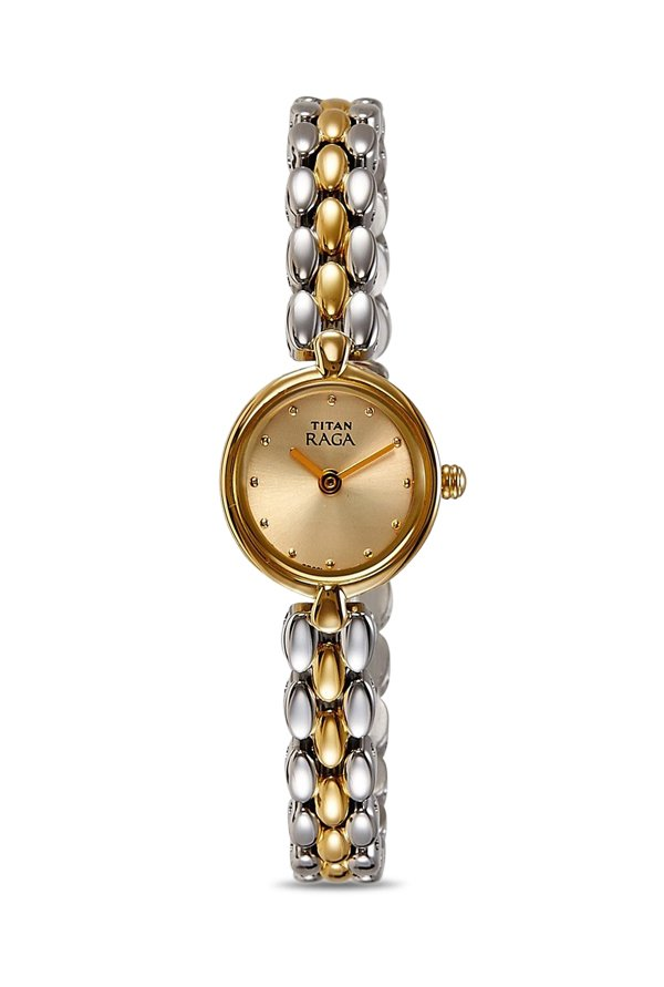 Titan Raga 2444BM04 Muted Gold Toned Dial Women's Watch (2444BM04)