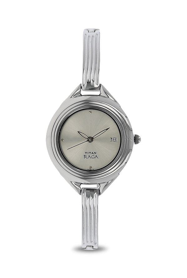 Titan Raga 2513SM01 Silver Toned Dial Women's Watch (2513SM01)