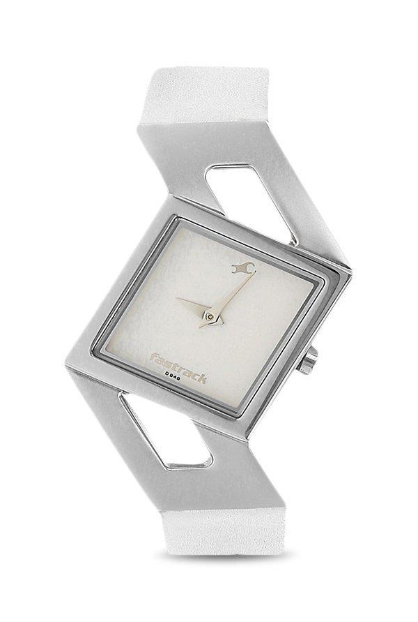 Fastrack NE6035SL01 Analog White Dial Women's Watch (NE6035SL01)