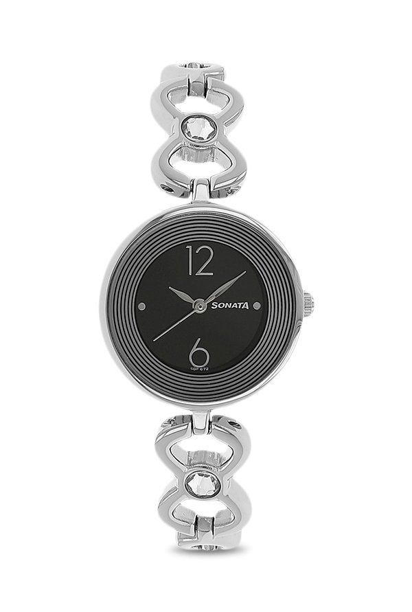 Sonata 8136SM01 Analog Black Dial Women's Watch (8136SM01)