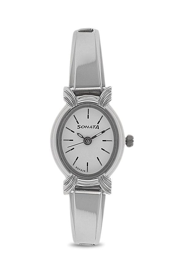 Sonata 8110SM01 Analog White Dial Women's Watch (8110SM01)
