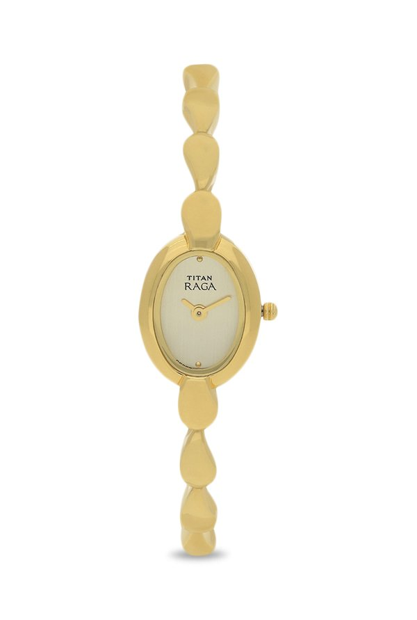 Titan Raga 2544YM01 Muted Gold Toned Dial Women's Watch (2544YM01)