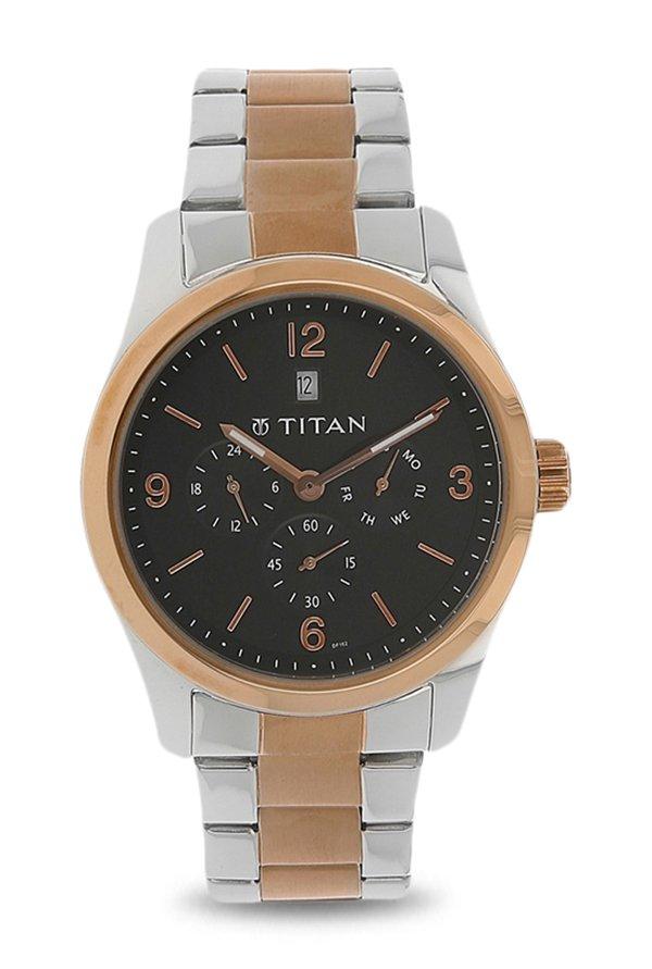 Titan 9493KM02 Formal Steel Analog Men's Watch (9493KM02)