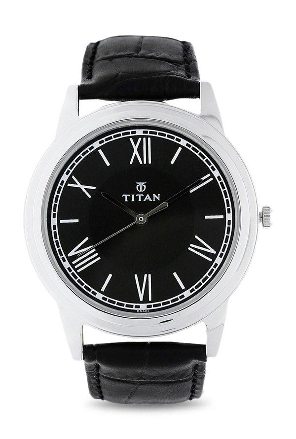 Titan 1735SL02 Analog Black Dial Men's Watch (1735SL02)