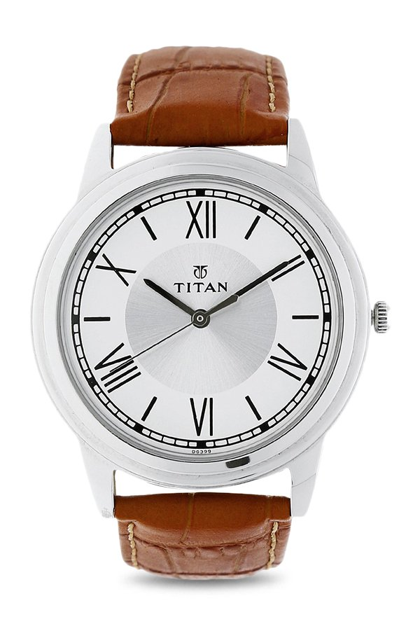 Titan 1735SL01 Analog White Dial Men's Watch (1735SL01)