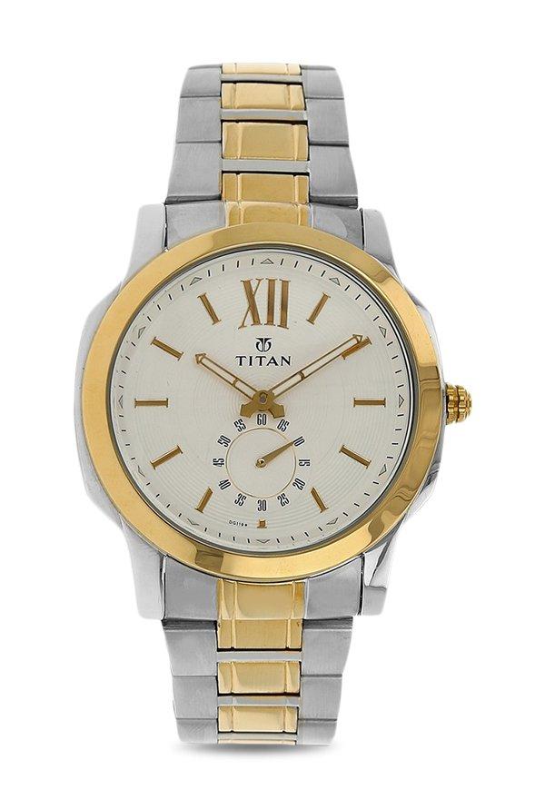 Titan Regalia 1721BM01 Rome Analog White Dial Men's Watch (1721BM01)