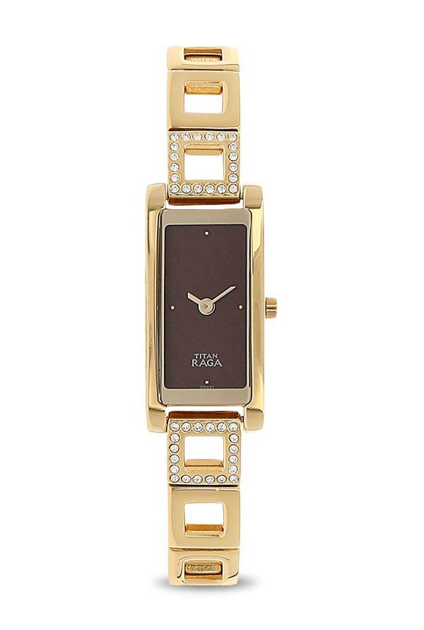 Titan 9720YM01 Analog Brown Dial Women's Watch (9720YM01)