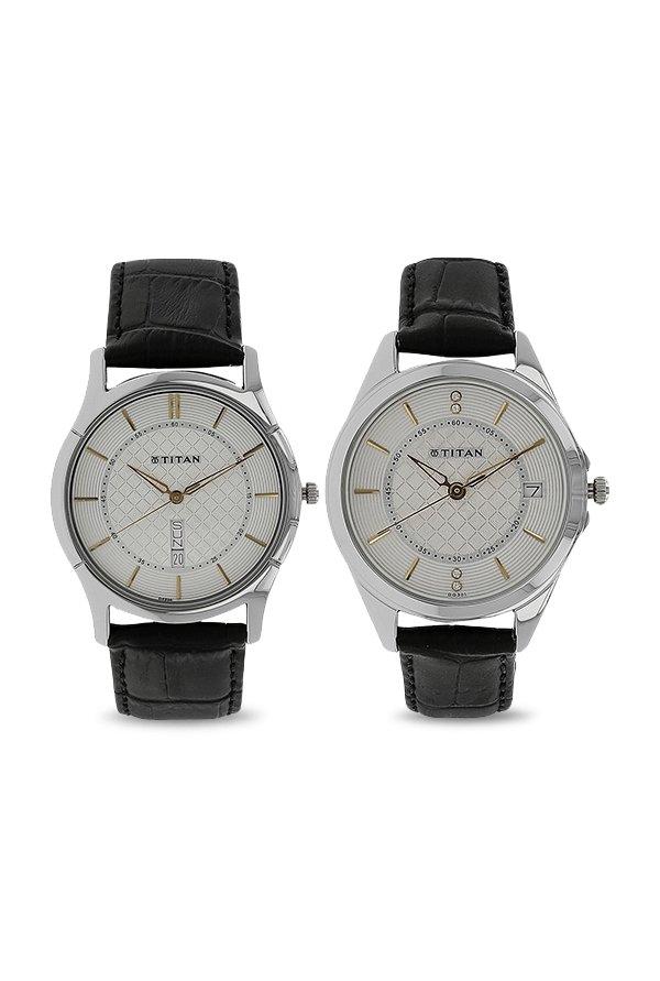 Titan 16362565SL01 Bandhan Analog Couple Watch (16362565SL01)