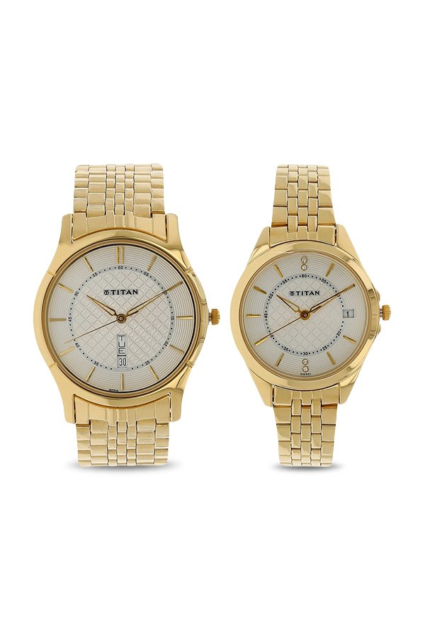 Titan 16362565YM01 Bandhan Analog Couple Watch (16362565YM01)
