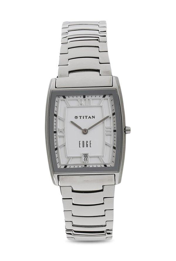Titan Edge 1684SM01 Quartz Analogue White Dial Men's Watch (1684SM01)