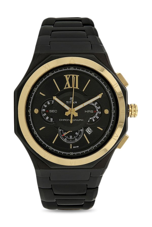 Titan Regalia 1716KM02 Rome Analog Black Dial Men's Watch (1716KM02)