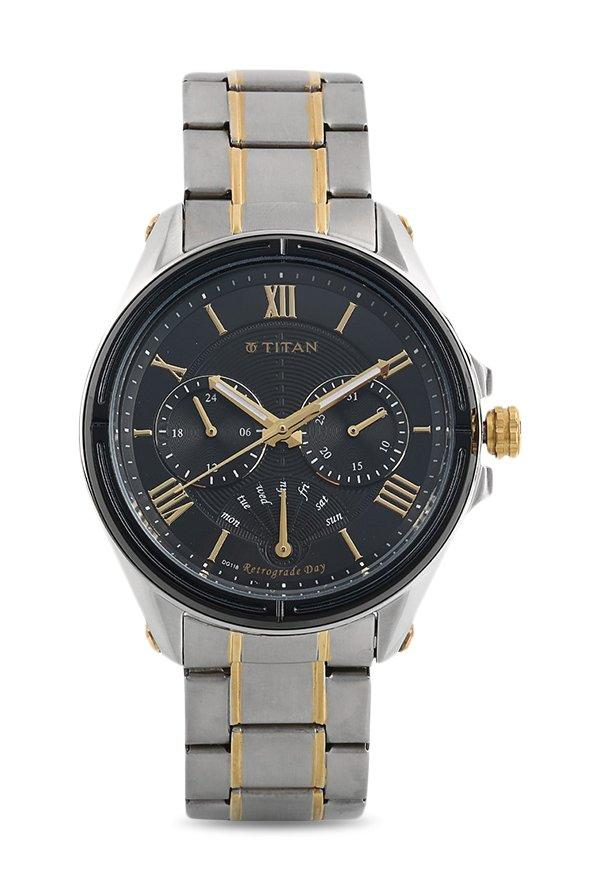 Titan Regalia 1717KM01 Rome Analog Black Dial Men's Watch (1717KM01)