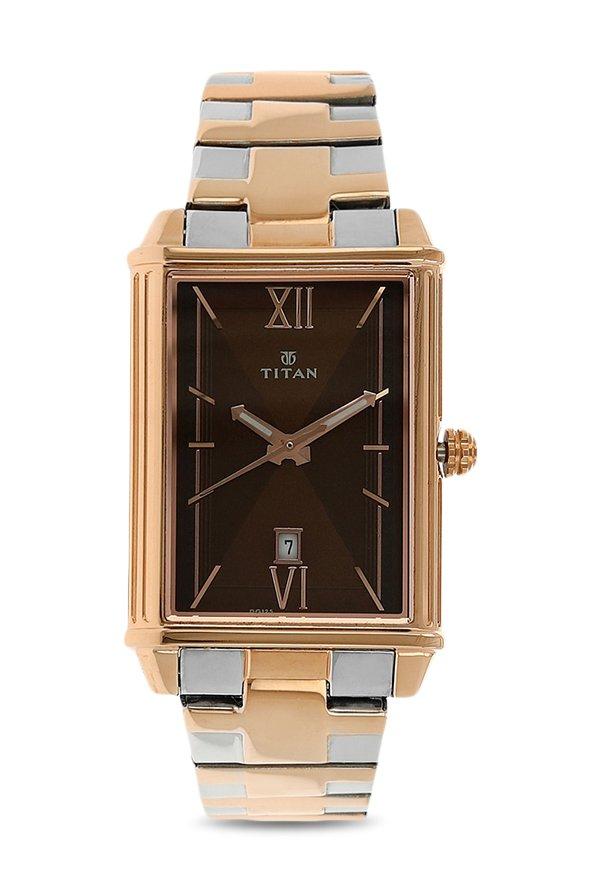 Titan Regalia 1720KM01 Rome Analog Brown Dial Men's Watch (1720KM01)
