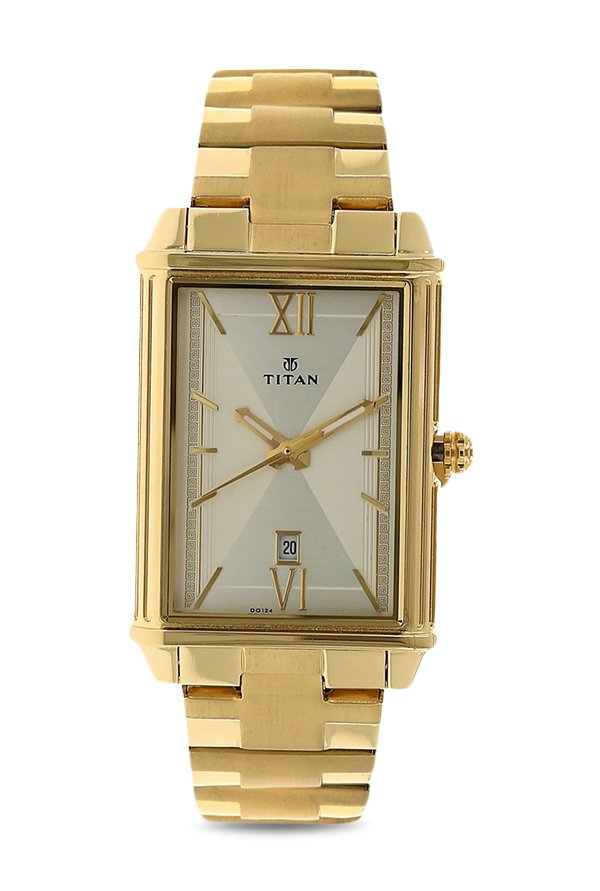 Titan Regalia 1720YM01 Rome Analog Champagne Dial Men's Watch (1720YM01)