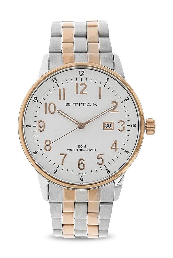 Titan 9441KM02 White Dial Analogue Men's Watch (9441KM02)