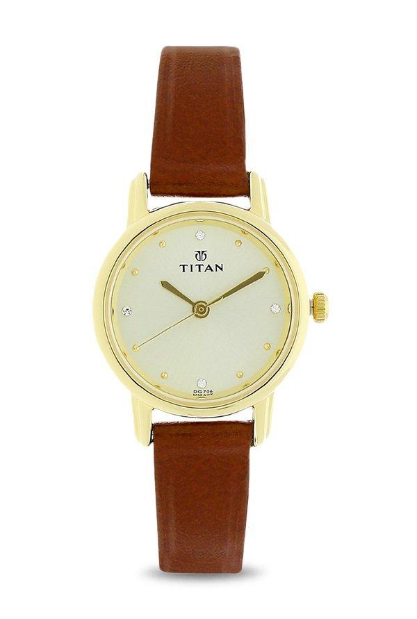 Titan 2572YL01 Analog Beige Dial Women's Watch (2572YL01)
