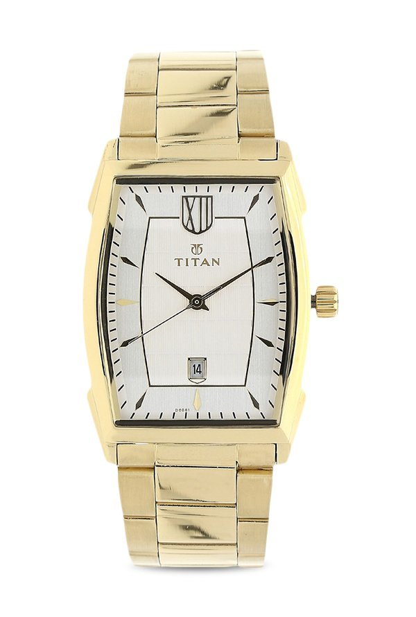 Titan 1692YM01 Analog White Dial Men's Watch (1692YM01)