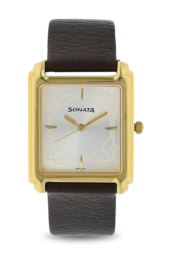 Sonata NK7053YL08 Silver Toned Analog Men's Watch (NK7053YL08)
