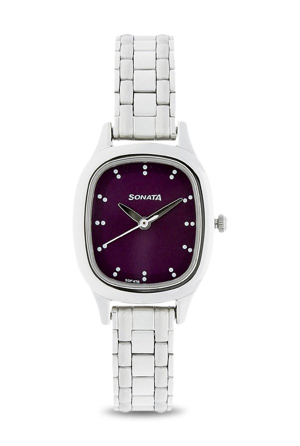 Sonata 8060SM03 Analog Purple Dial Women's Watch (8060SM03)