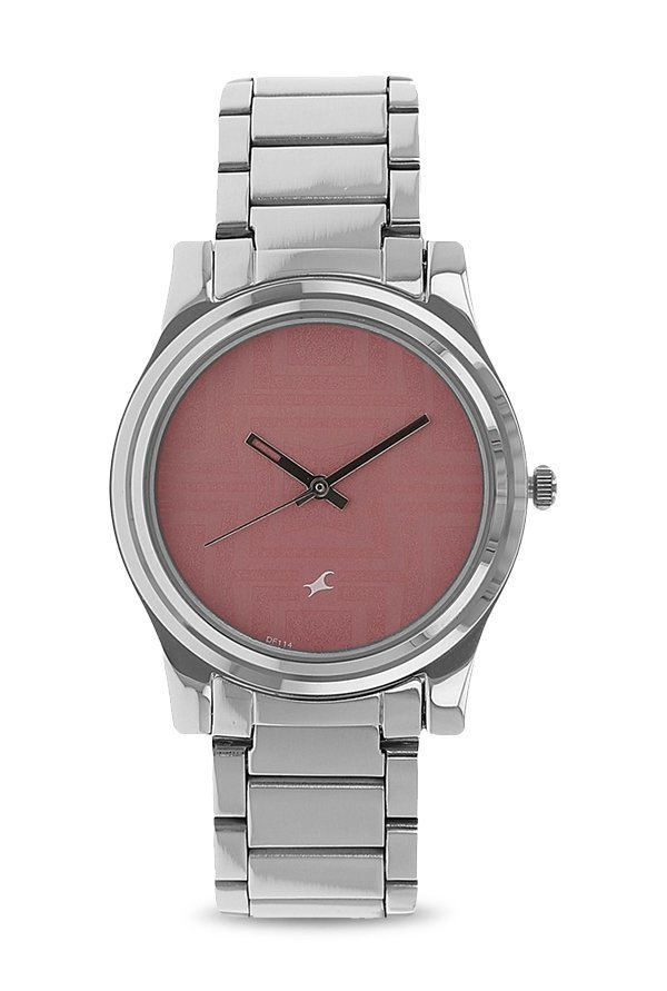 Fastrack NK6046SM02 Pink Analogue Unisex Watch (NK6046SM02)