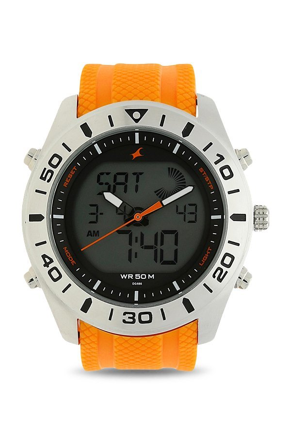Fastrack 38034SP01 Analog Orange Dial Men's Watch (38034SP01)
