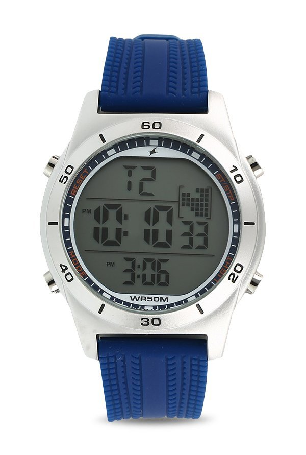 Fastrack 38033SP02 Digital Grey Dial Men's Watch (38033SP02)