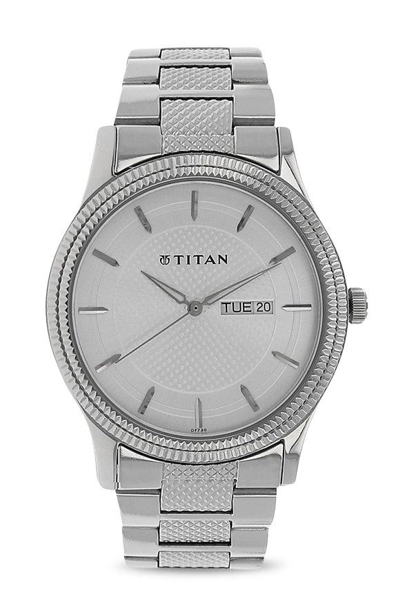 Titan Karishma 1650SM01 Ottoman Analog Silver Dial Men's Watch (1650SM01)