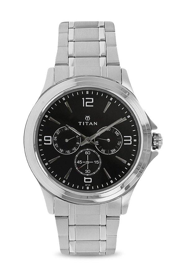 Titan 1698SM01 Analog Black Dial Men's Watch (1698SM01)