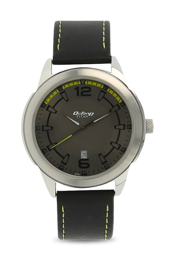 Titan 1585SL10 Analog Grey Dial Men's Watch (1585SL10)