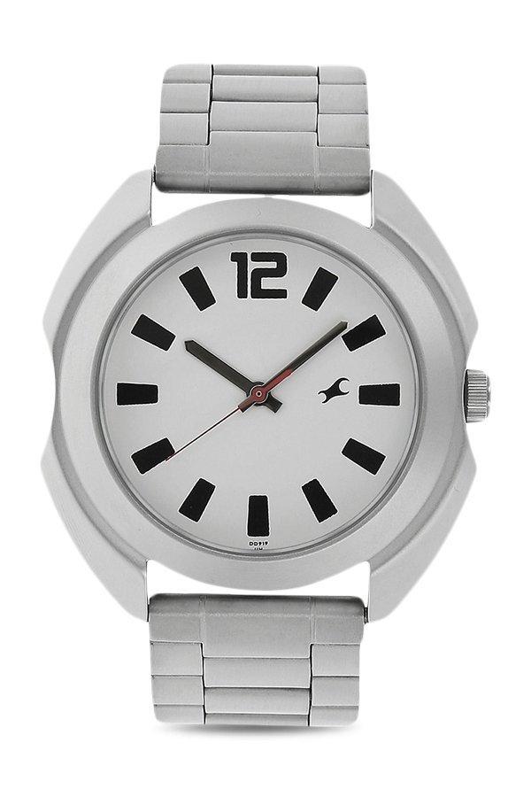 Fastrack 3117SM01 Analog White Dial Men's Watch (3117SM01)