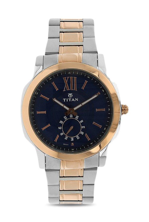 Titan Regalia 1721KM01 Rome Analog Blue Dial Men's Watch (1721KM01)