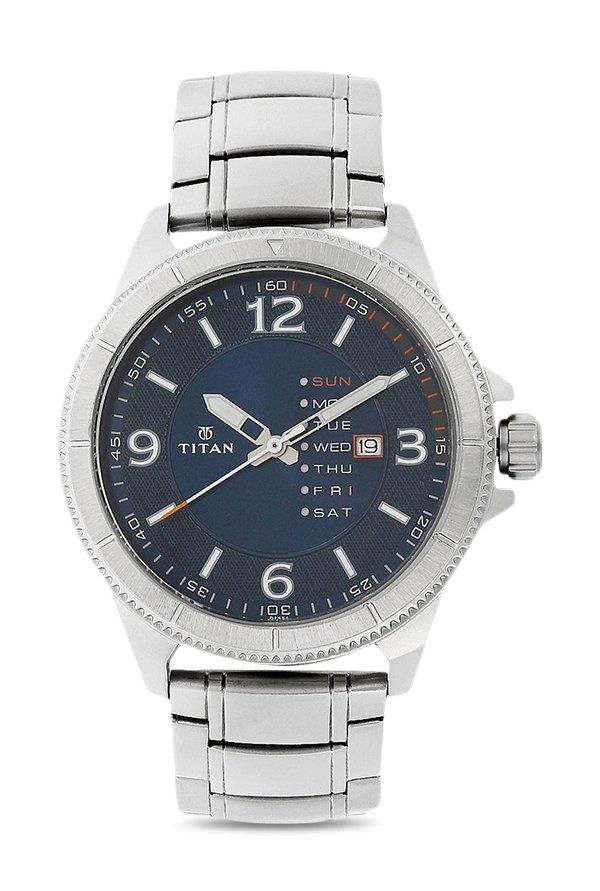 Titan Purple 1701SM01 Steel Analog Blue Dial Men's Watch (1701SM01)