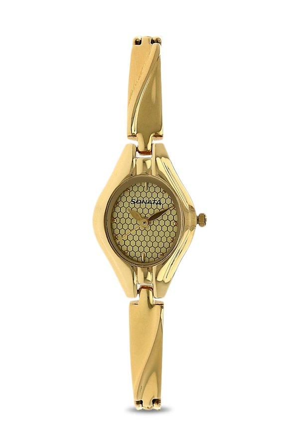 Sonata NK8951YM02 Gold Toned Analog Women's Watch (NK8951YM02)