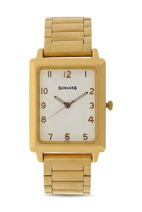 Sonata NK7078YM09 White Analog Men's Watch (NK7078YM09)