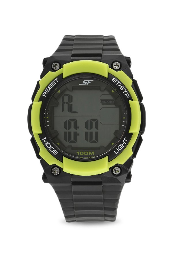 Sonata 77081PP03 Fibre Round Digital Men Watch (77081PP03)