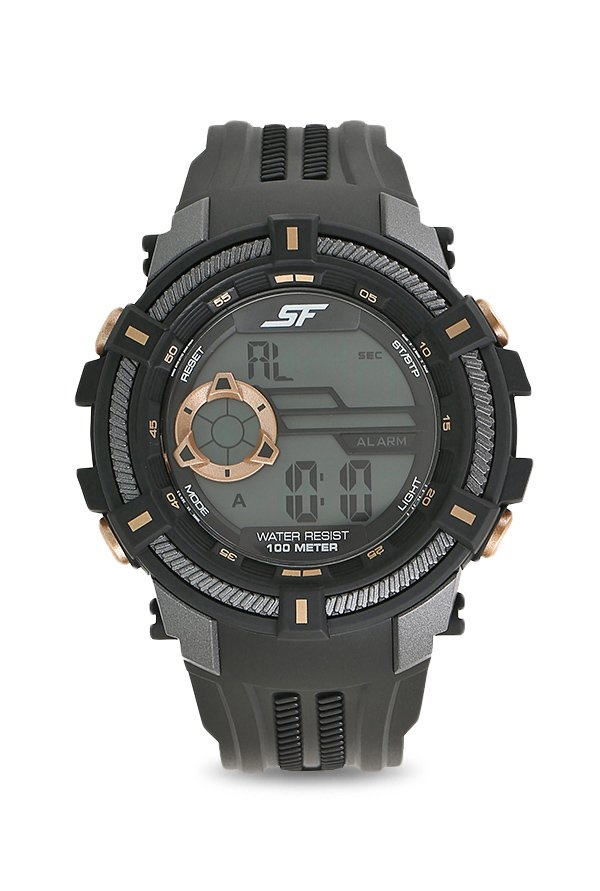 Sonata 77080PP03 Fibre Grey Digital Men's Watch (77080PP03)