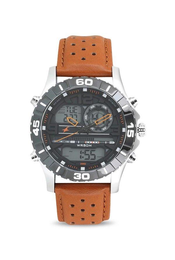 Fastrack 38035SL04 Black Dial Analog Men's Watch for Men (38035SL04)