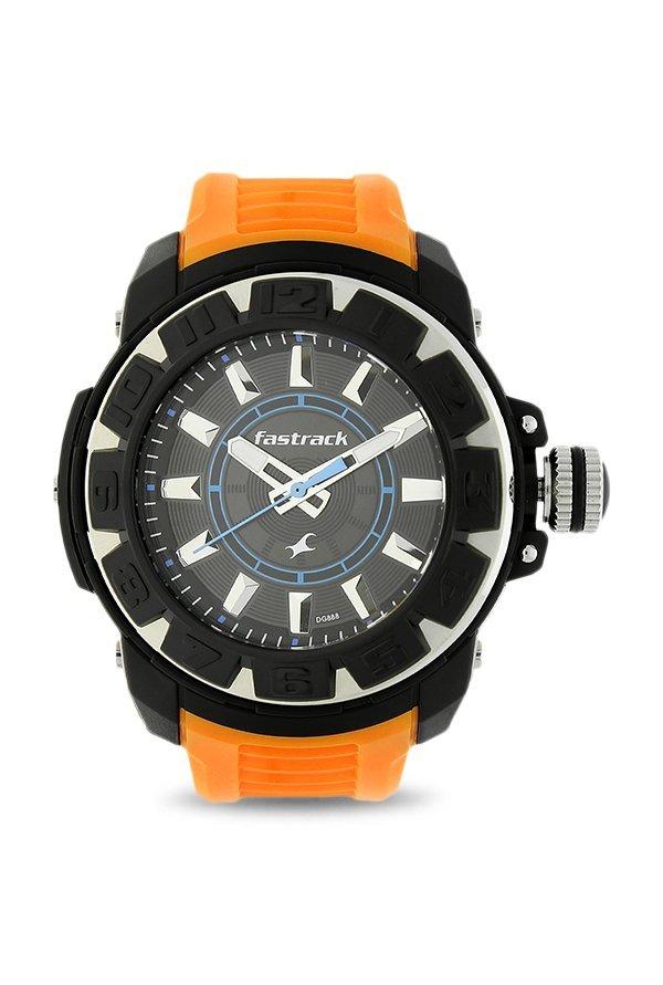 Fastrack NK9334PP04 Black Dial Analog Unisex's Watch (NK9334PP04)