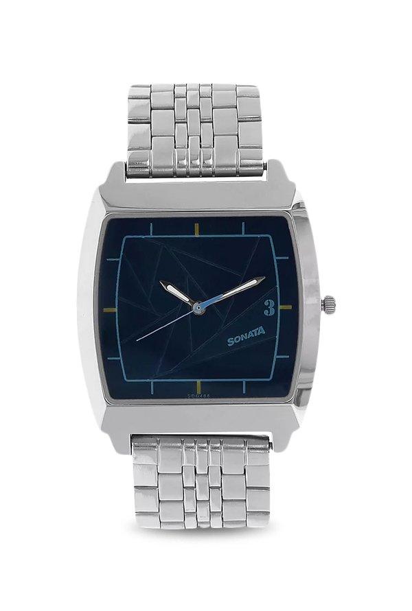Sonata NK77064SM02 Blue Dial Analog Men's Watch (NK77064SM02)