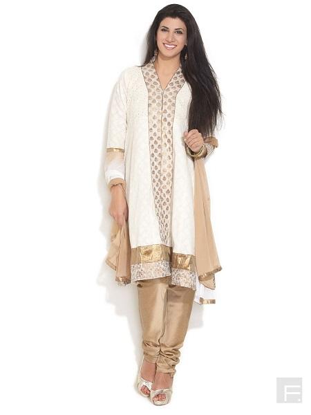 Hakoba Printed Anarkali Dress