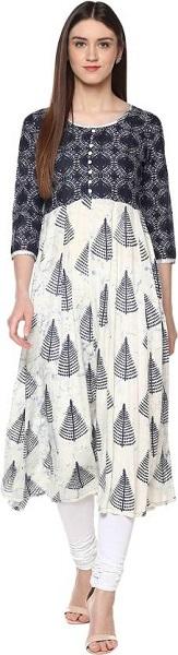 Calf-Length Anarkali Dress