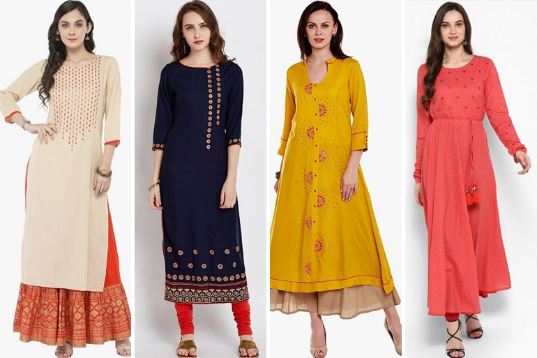8 Mirror Work Kurtis That Are A Must Have