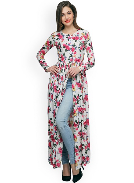 Floral Printed Long Maxi Top
