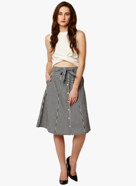 Tie Top Midi Skirt