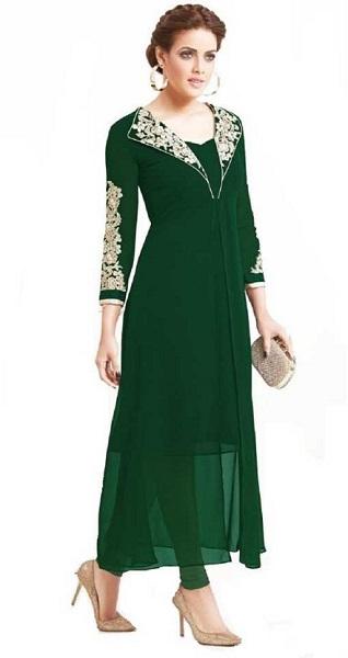 Green Embroidered Pakistani Kurti