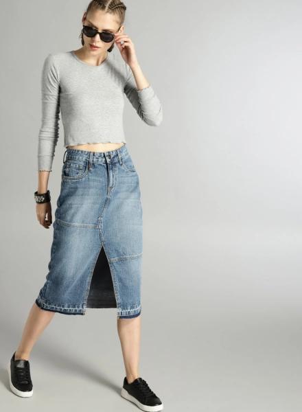 Midi Skirt With A Slit