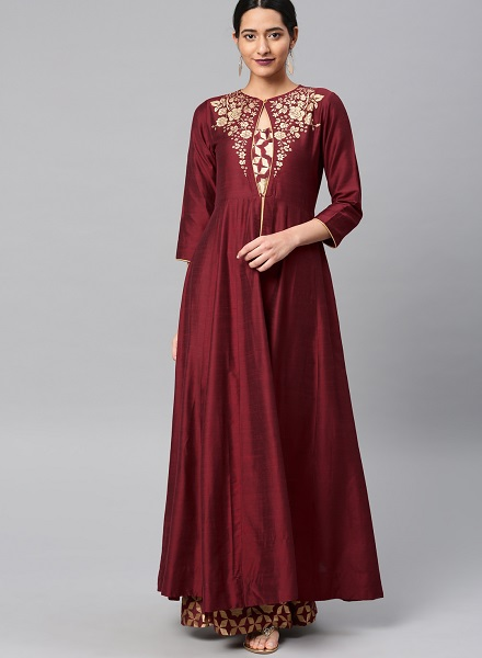 Ankle length kurti with palazzo