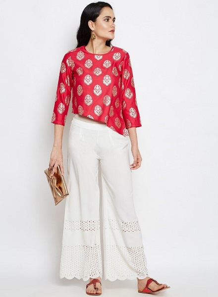 Asymmetrical Ethnic Top