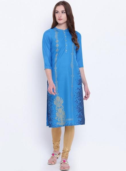 Blue Printed Aurelia Kurti